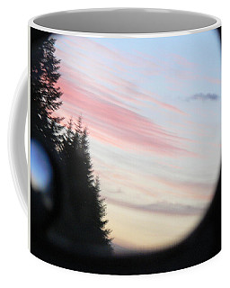 Coffee Mug featuring the photograph Rear View Sunset Sky by Pamela Patch