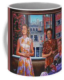 Coffee Mug featuring the painting Rear Window by Michael Frank