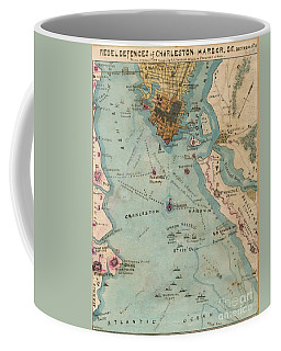 Rebel Defenses Of Charleston Harbor Coffee Mug