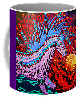 Coffee Mug featuring the painting Rebel Moon by Debbie Chamberlin