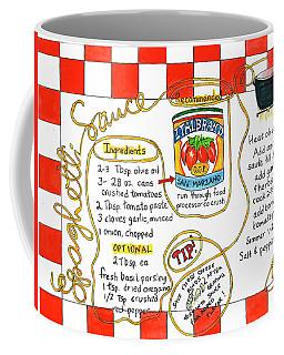 Recipe -spaghetti Sauce  Coffee Mug