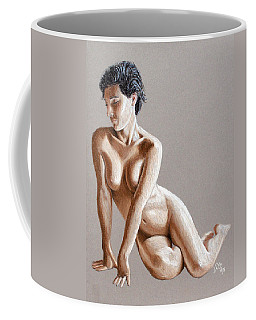 Coffee Mug featuring the painting Reclining Figure by Joseph Ogle