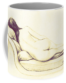 Reclining Nude Coffee Mug by Edgar Torres