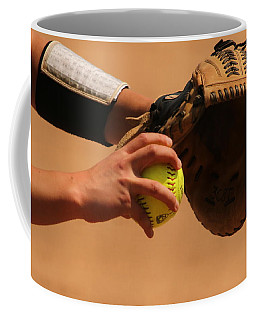 Recoiling Into A Throw Coffee Mug by Laddie Halupa