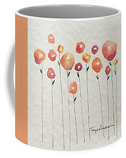 Red Abstract Floral Coffee Mug