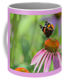 Red Admiral On Cone Flower Coffee Mug