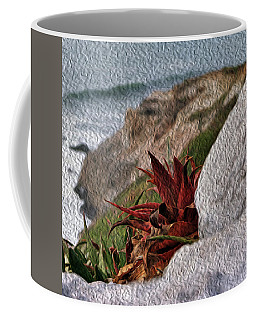 Red Aloe Vera By The Sea Coffee Mug