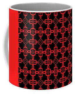 Red And Black Celtic Cross Pattern Coffee Mug