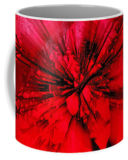 Coffee Mug featuring the photograph Red And Black Explosion by Susan Capuano