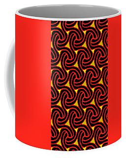 Red And Black Knot Pattern Coffee Mug