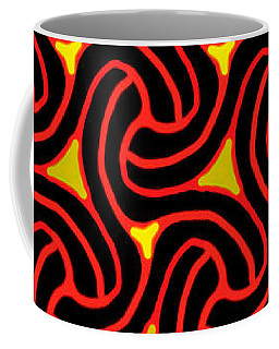 Red And Black Knot Pattern Coffee Mug