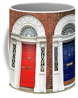 Red And Blue Dublin Doors Coffee Mug