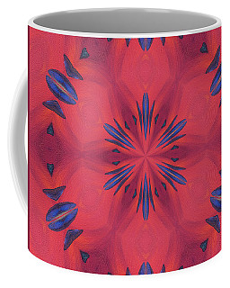 Coffee Mug featuring the mixed media Red And Blue by Elizabeth Lock