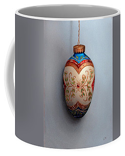 Red And Blue Filigree Egg Ornament Coffee Mug