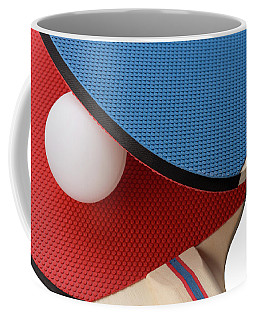 Red And Blue Ping Pong Paddles - Closeup Coffee Mug