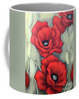 Red And Grey Coffee Mug