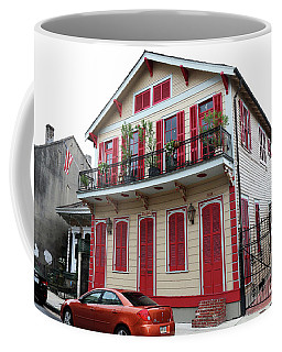 Coffee Mug featuring the photograph Red And Tan House by Steven Spak