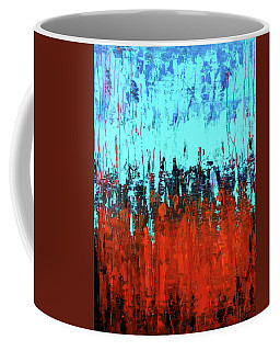Red And Turquoise Abstract Coffee Mug