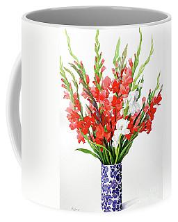 Red And White Gladioli Coffee Mug