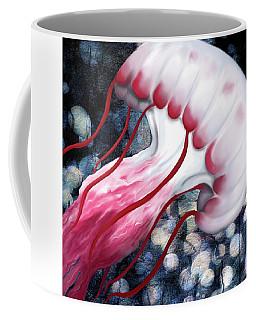 Red And White Jellyfish  Coffee Mug