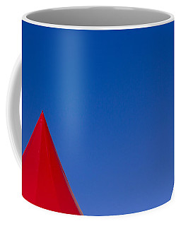 Coffee Mug featuring the photograph Red And White Triangles by Prakash Ghai