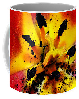 Red And Yellow Flower Coffee Mug by Judi Saunders