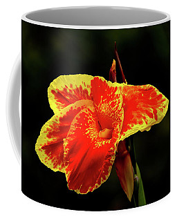 Red And Yellow Single Flower Coffee Mug