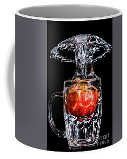 Red Apple Splash Coffee Mug