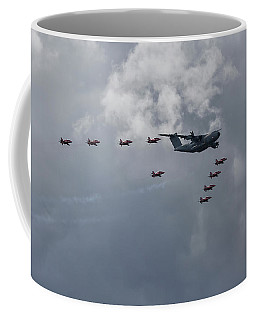 Red Arrow Formation Flying Coffee Mug by Shirley Mitchell