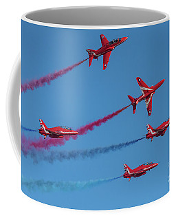 Coffee Mug featuring the photograph Red Arrows Enid Break by Gary Eason