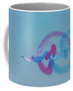 Coffee Mug featuring the photograph Red Arrows Gypo Swirls by Gary Eason