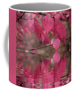 Red Autumn Leaf Reflections Coffee Mug