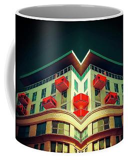 Red Balconys Coffee Mug by Jerry Golab