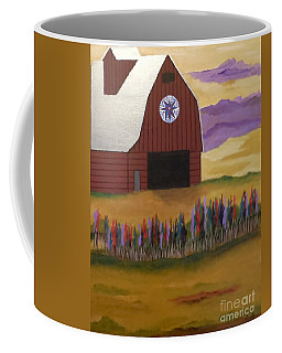 Red Barn Golden Landscape Coffee Mug