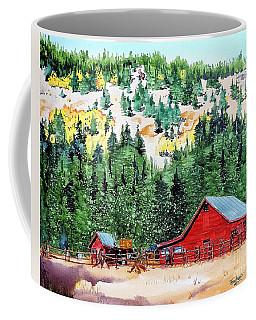 Red Barn In Autumn Coffee Mug