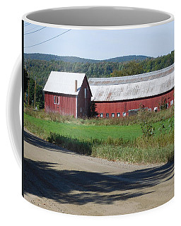 Red Barn In Coventry Vermont Coffee Mug by Catherine Gagne