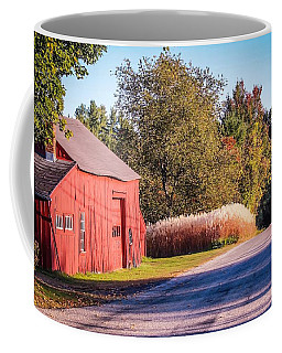 Red Barn In The Country Coffee Mug