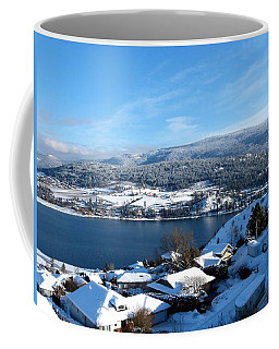 Coffee Mug featuring the photograph Red Barn In The Distance by Will Borden