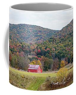 Red Barn In The Fall Coffee Mug