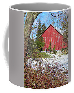 Coffee Mug featuring the photograph Red Barn by Melinda Blackman