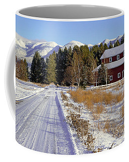 Coffee Mug featuring the photograph Red Barn Scene by Jack Bell