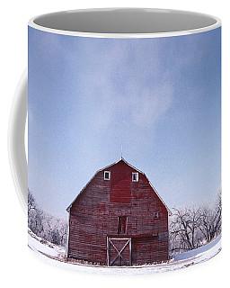 Red Barn Winter Coffee Mug