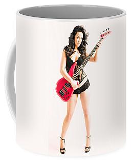 Red Bass Guitar Coffee Mug