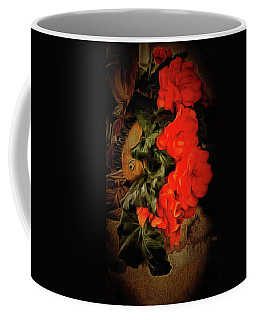 Coffee Mug featuring the photograph Red Begonias by Thom Zehrfeld