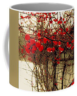 Red Berries In Winter Coffee Mug by Susan Lafleur