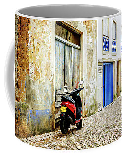 Red Bike Coffee Mug by Marion McCristall