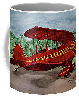 Red Biplane Coffee Mug