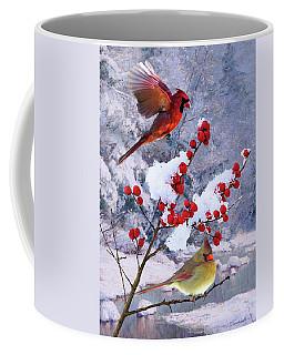 Red Birds Of Christmas Coffee Mug