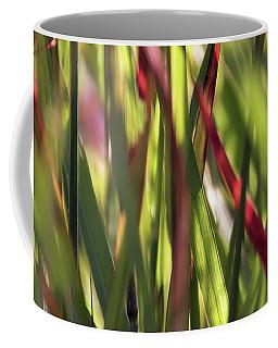 Red Blades Among The Green Coffee Mug