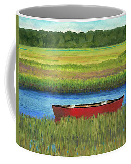 Red Boat - Assateague Channel Coffee Mug